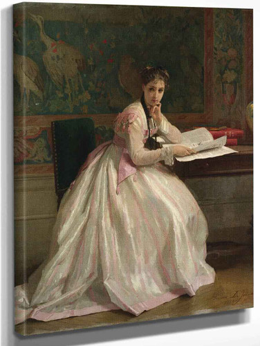 A Moment Of Distraction By Gustave Leonard De Jonghe By Gustave Leonard De Jonghe