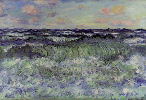 Sea Study By Claude Oscar Monet