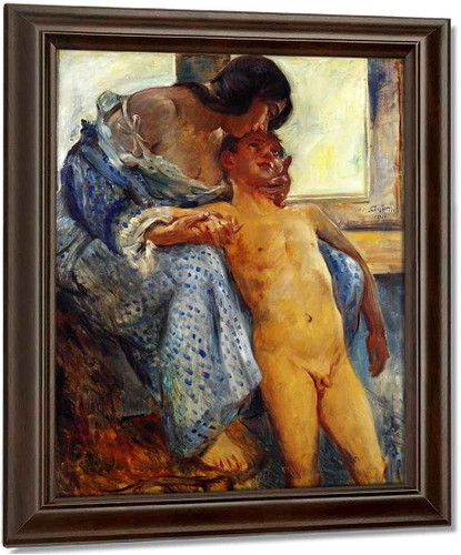 A Mother's Love By Lovis Corinth Art Reproduction