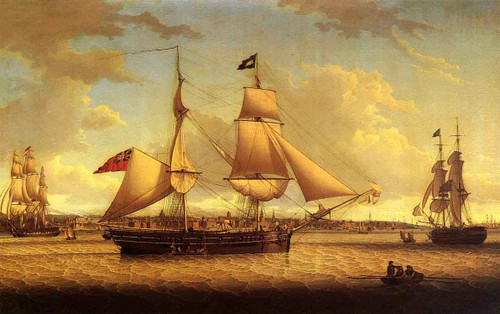 Ship Off Liverpool By Robert Salmon