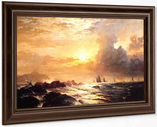 Ships At Sea By Edward Moran