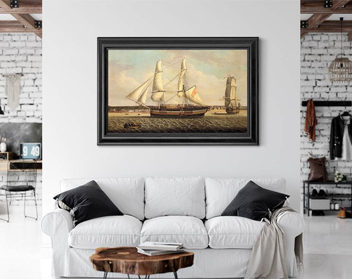 Ships In A Port By Robert Salmon