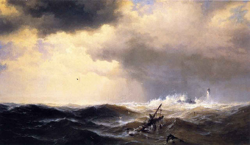 Shipwrecked By Edward Moran