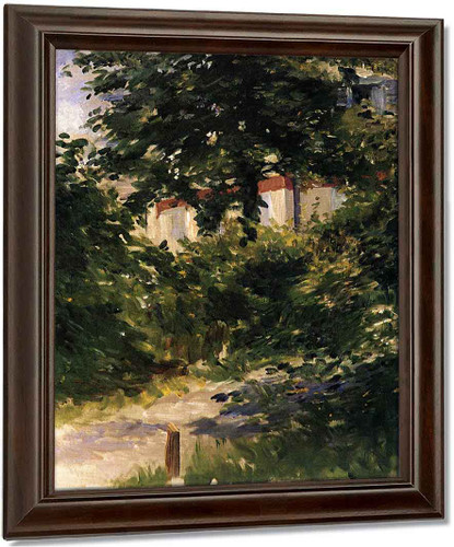 A Path In The Garden At Rueil By Edouard Manet Oil on Canvas Reproduction