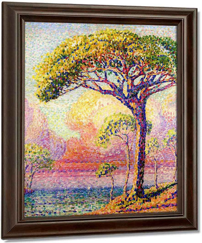 A Pine Tree By Henri Edmond Cross Oil on Canvas Reproduction