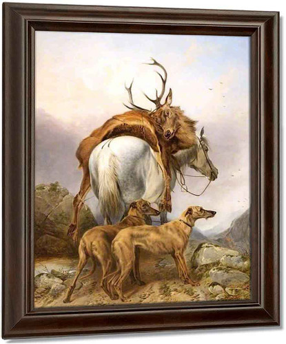 A Pony Carrying A Dead Deer By Richard Ansdell