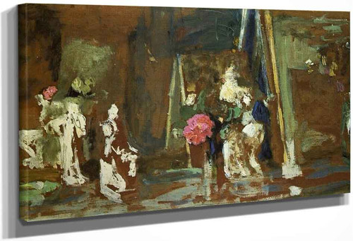 Statuettes On The Mantlepiece By Edouard Vuillard