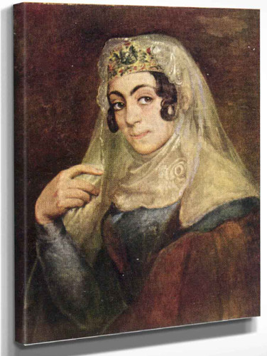 A Portrait Of A Georgian Woman By Vasily Tropinin