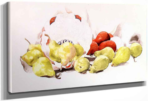 Still Life Apples And Pears By Charles Demuth By Charles Demuth