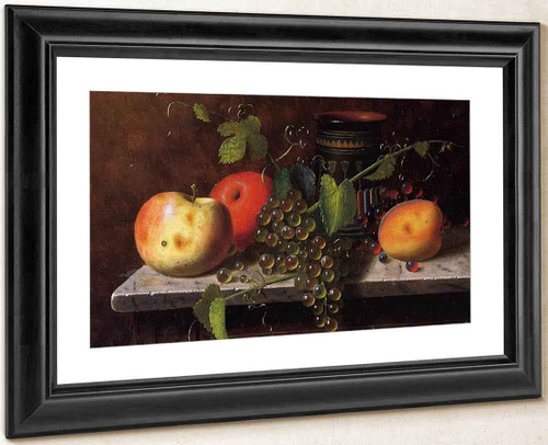 Still Life With Fruit And Vase By William Michael Harnett By William Michael Harnett