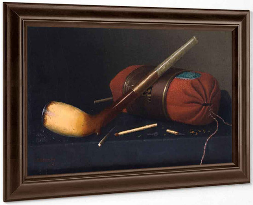 Still Life With Pipe 2 By William Michael Harnett By William Michael Harnett