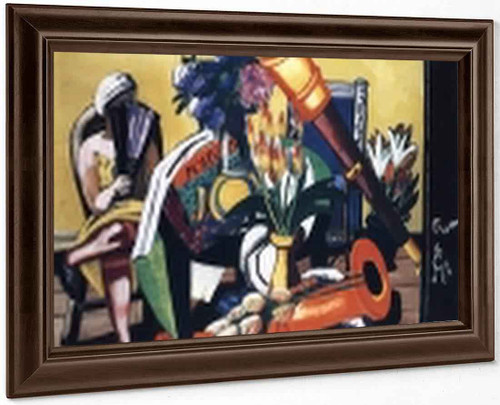 Still Life With Telescope By Max Beckmann By Max Beckmann