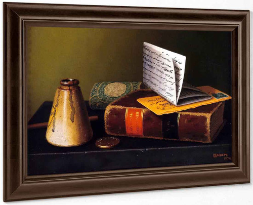 Still Life With Universal Gazetteer By William Michael Harnett By William Michael Harnett