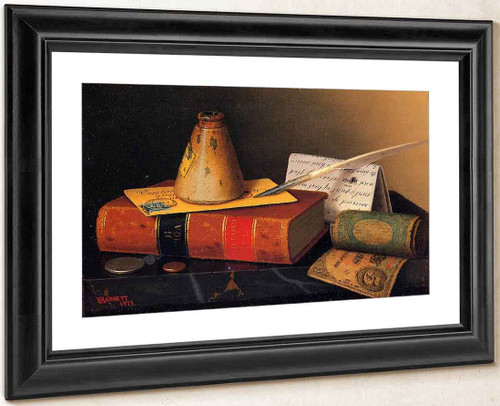Still Life Writing Table By William Michael Harnett By William Michael Harnett