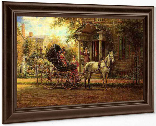 Stopping For A Chat By Edward Lamson Henry By Edward Lamson Henry