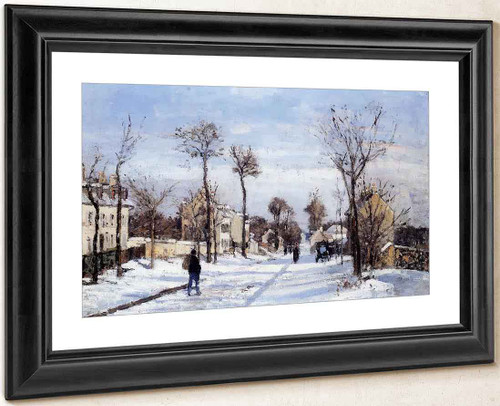 Street In The Snow, Louveciennes By Camille Pissarro