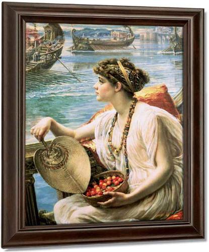 A Roman Boat Race By Sir Edward John Poynter Oil on Canvas Reproduction