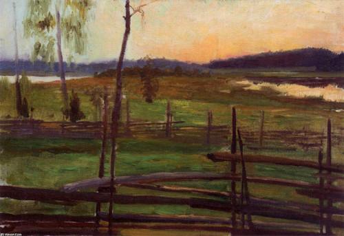 Summer Evening1 By Albert Edelfelt