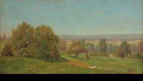Summer Landscape 1 By Alexander Helwig Wyant