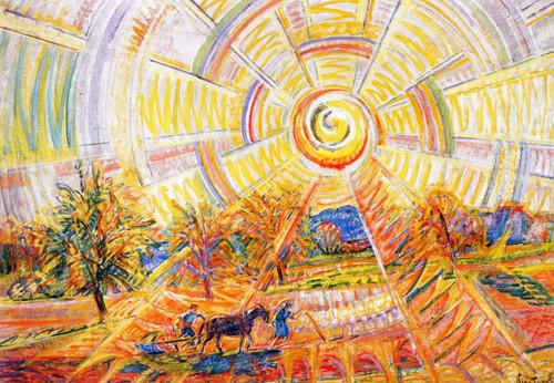 Sun With Rainbow By Nicolas Tarkhoff