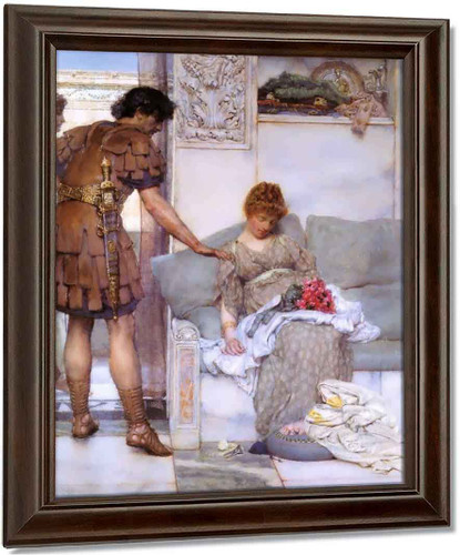 A Silent Greeting By Sir Lawrence Alma Tadema Oil on Canvas Reproduction
