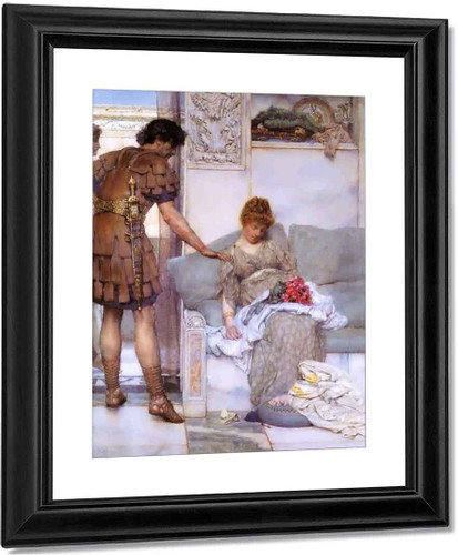 A Silent Greeting By Sir Lawrence Alma Tadema