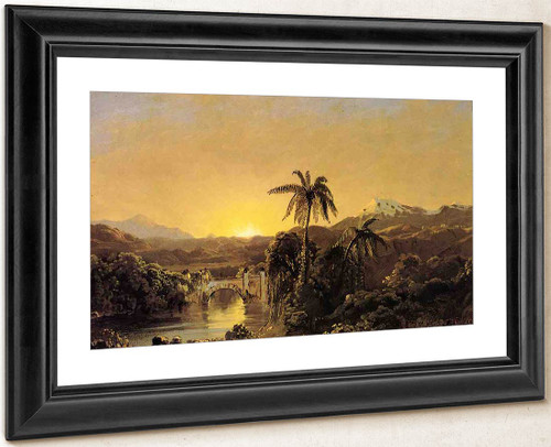 Sunset In Ecuador By Frederic Edwin Church By Frederic Edwin Church