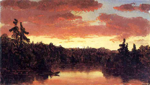 Sunset On Lake George By Sanford Robinson Gifford