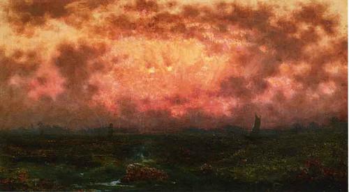 Sunset On The Coast By Martin Johnson Heade