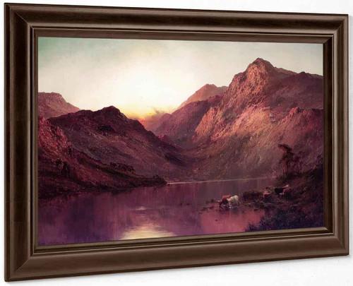 Sunset On The Loch By Alfred De Breanski, Sr.