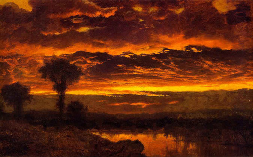 Sunset By Louis Remy Mignot