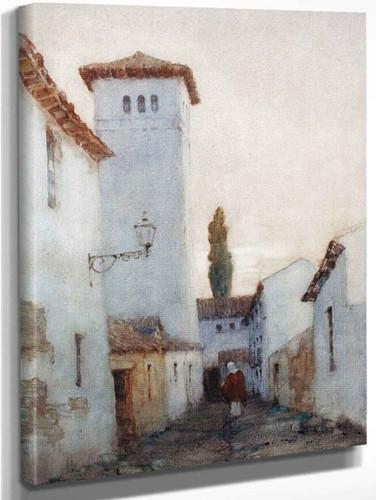 A Spanish Street, Cordoba By Albert Moulton Foweraker