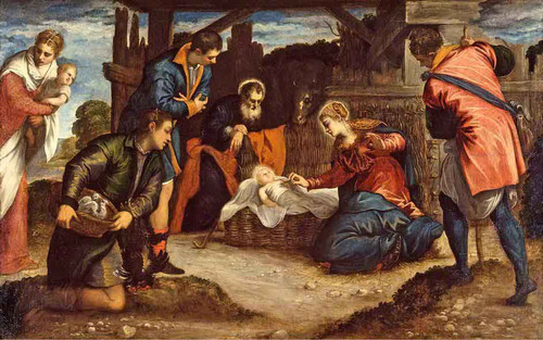 The Adoration Of The Shepherds By Jacopo Tintoretto