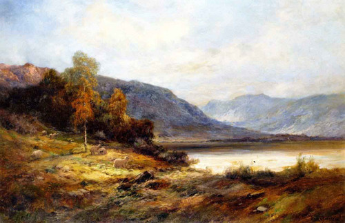The Banks Of Loch Kagrine By Alfred De Breanski, Sr.