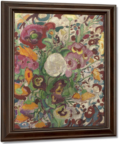 A Still Life With Flowers2 By Leo Gestel Oil on Canvas Reproduction