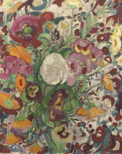 A Still Life With Flowers2 By Leo Gestel