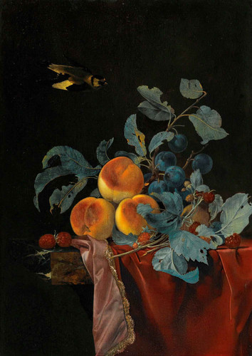 A Still Life With Peaches, Raspberries And Damsons By Willem Van Aelst By Willem Van Aelst