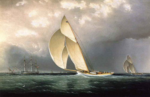 The Bark Marblehead Coming Into Port By James E. Buttersworth
