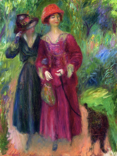 A Stroll In The Park By William James Glackens  By William James Glackens