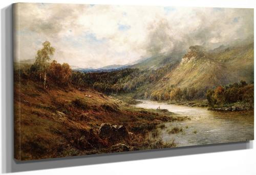 The Birch Clad Hills Of Perth By Alfred De Breanski, Sr.
