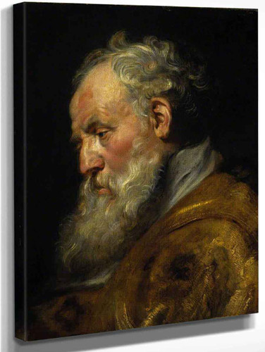 A Study Of A Head  By Peter Paul Rubens