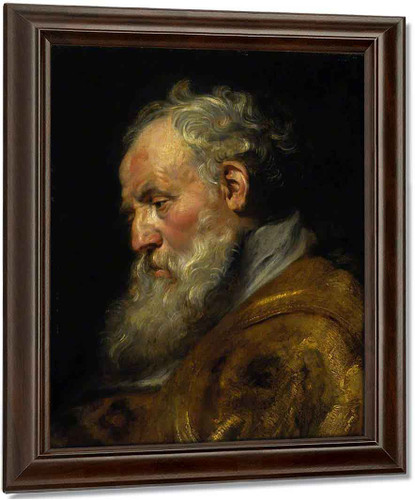 A Study Of A Head By Peter Paul Rubens Oil on Canvas Reproduction
