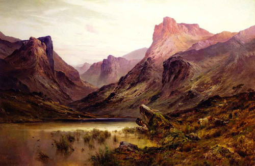 The Black Pool, The Pass Of Glencoe By Alfred De Breanski, Sr.