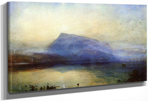 The Blue Rigi Lake Of Lucerne Sunrise By Joseph Mallord William Turner
