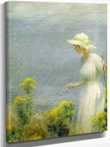 A Summer Walk By Charles Courtney Curran By Charles Courtney Curran