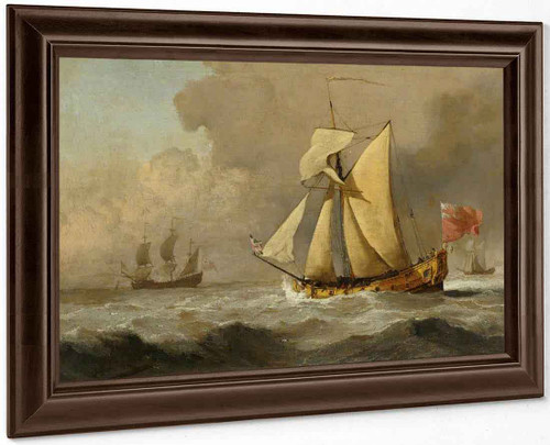 The Cleveland Yacht At Sea In A Fresh Breeze By Willem Van De Velde The Younger
