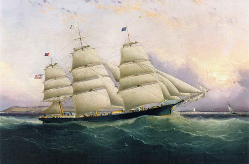 The Clipper Ship Sunrise By James E. Buttersworth