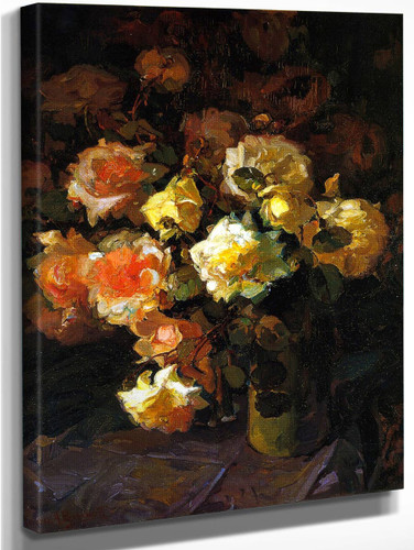A Tapestry Of Roses By Franz Bischoff By Franz Bischoff