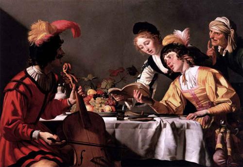 The Concert By Gerard Van Honthorst By Gerard Van Honthorst