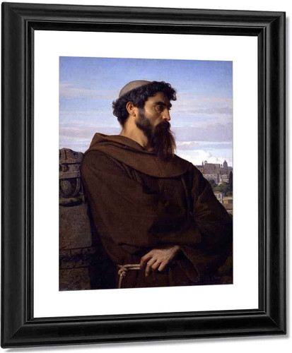 A Thinker, Young Roman Monk By Alexandre Cabanel
